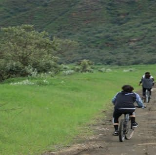 Guests enjoying cycling safari at Hells Gate National Park