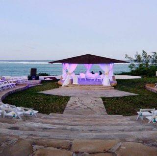 Wedding set up in Diani Beach