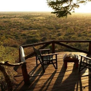 Beautiful view of Meru National Park from Elsa kopje