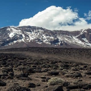 Overview of Mount Kilimajaro